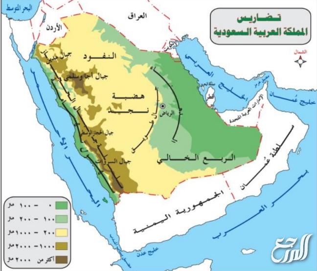 خريطة شبه الجزيرة العربية فارغة