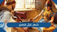 شعر غزل قصير عراقي وخليجي وبدوي ورومنسي