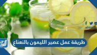 طريقة عمل عصير الليمون بالنعناع الأخضر والمجفف بثلاث وصفات مختلفة