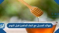 فوائد العسل مع الماء الدافئ قبل النوم