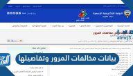 بيانات مخالفات المرور وتفاصيلها في دولة الكويت 2021