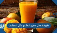 طريقة عمل عصير المانجو مثل المحلات بـ 5 وصفات مختلفة