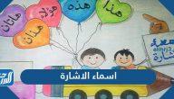 اسماء الاشارة كلها بالانجليزية وفي اللغة العربية وأنواعها