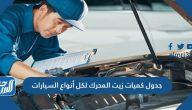 جدول كميات زيت المحرك لكل أنواع السيارات وطريقة تحديد الزيت المناسب لسيارتك