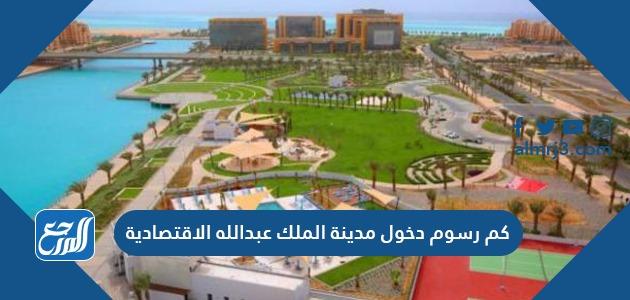 كم رسوم دخول مدينة الملك عبدالله الاقتصادية