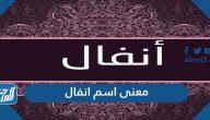 معنى اسم انفال Anfal وصفات حاملة الاسم وحكم التسمية به