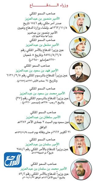 وزراء الدفاع السعوديين