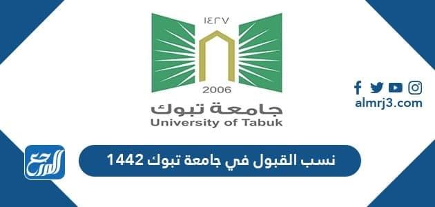 نسب القبول في جامعة تبوك 1442