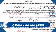 نموذج عقد عمل سعودي 2021 عربي انجليزي