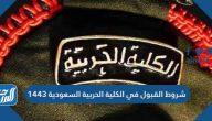 شروط القبول في الكلية الحربية السعودية 1443