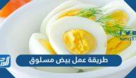 طريقة عمل بيض مسلوق بـ 6 وصفات مختلفة شهية ولذيذة