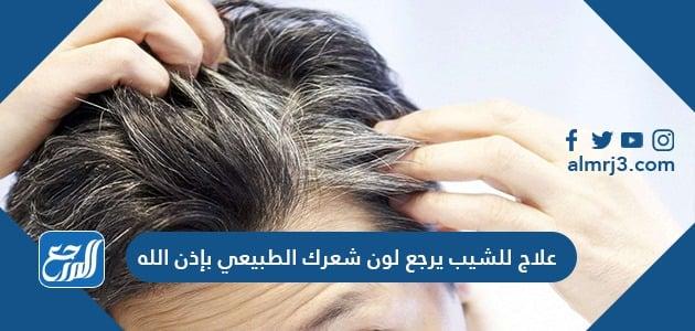 علاج للشيب يرجع لون شعرك الطبيعي بإذن الله