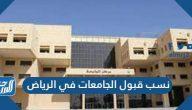 نسب قبول الجامعات في الرياض 1443-2021 وشروط القبول