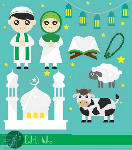 ثيمات تهنئة عيد الاضحى المبارك للاطفال