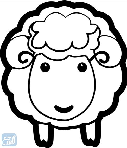 رسومات وجه خروف العيد كرتون