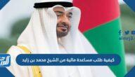 كيفية طلب مساعدة مالية من الشيخ محمد بن زايد