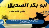 بويع أبو بكر الصديق رضي الله عنه بالخلافة بالمسجد النبوي
