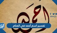 تفسير اسم أحمد في المنام للعزباء والمتزوجة والحامل