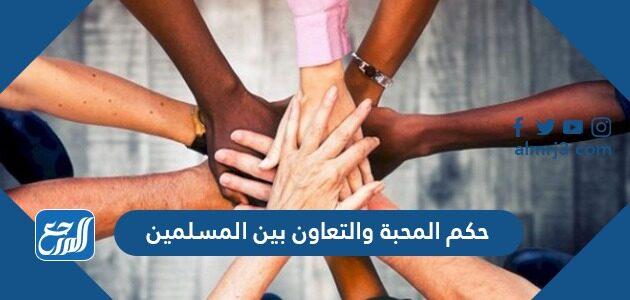 حكم المحبة والتعاون بين المسلمين