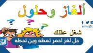 حل لغز احمر تمطه وين تحطه
