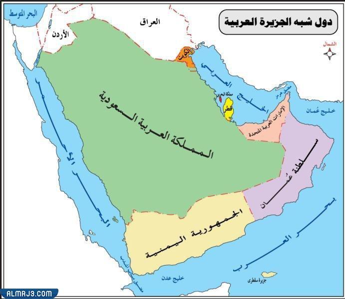 خريطة حدود السعودية