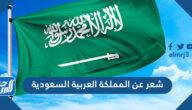 شعر عن المملكة العربية السعودية