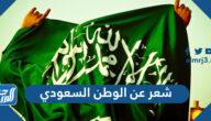 شعر عن الوطن السعودي قصير