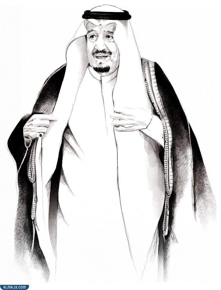 صور الملك سلمان للتلوين