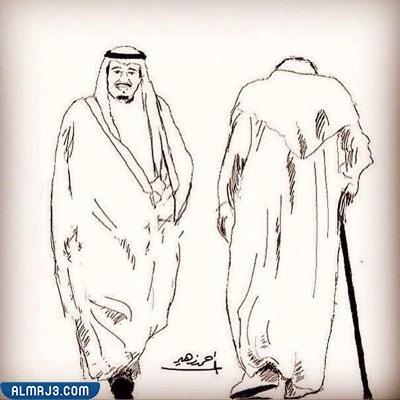 رسم الملك سلمان بالرصاص