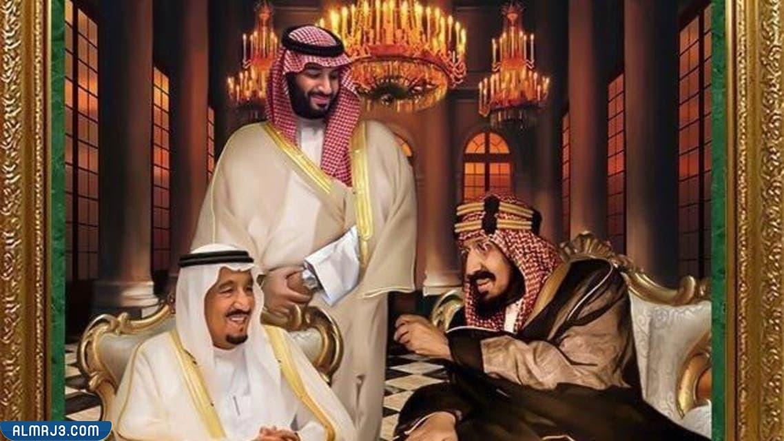 صور خلفيات الملك سلمان وولي العهد محمد بن سلمان