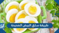 ما هي طريقة سلق البيض الصحيحة