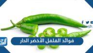 ما هي فوائد الفلفل الأخضر الحار وما قيمته الغذائية وأضرار تناوله