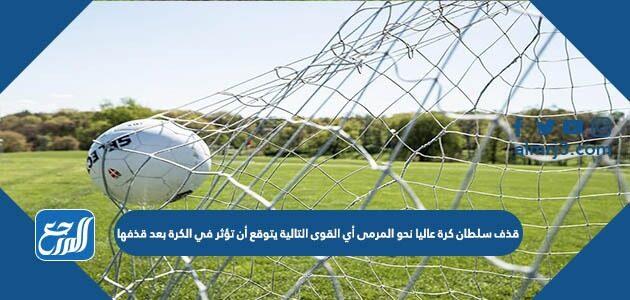 قذف سلطان كرة عاليا نحو المرمى أي القوى التالية يتوقع أن تؤثر في الكرة بعد قذفها