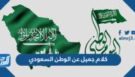 كلام جميل عن الوطن السعودي