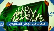 كلمات عن الوطن السعودي قصيرة