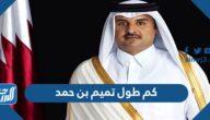 كم طول تميم بن حمد ال ثاني امير قطر
