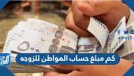 كم مبلغ حساب المواطن للزوجه
