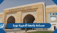 كم مساحة جامعة الأميرة نورة