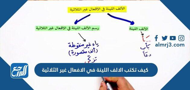 كيف تكتب الألف اللينة في الأفعال غير الثلاثية