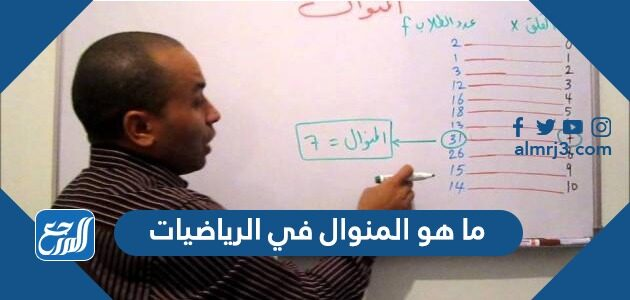 ما هو المنوال في الرياضيات