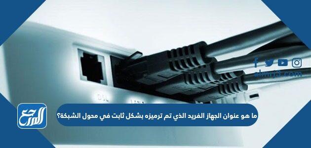 ما هو عنوان الجهاز الفريد الذي تم ترميزه بشكل ثابت في محول الشبكة