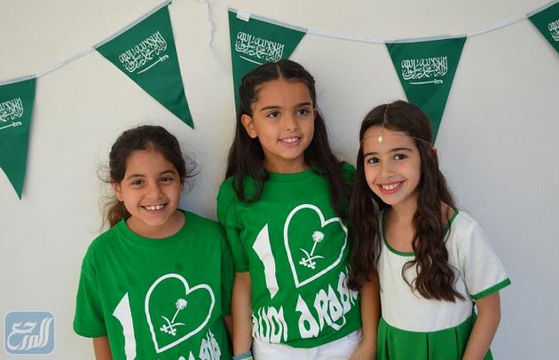 صور بنات عن اليوم الوطني ملابس اليوم الوطني السعودي للمدارس