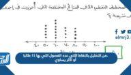من التمثيل بالنقاط الآتي عدد الفصول التي بها ٢٤ طالبا، أو أكثر يساوي