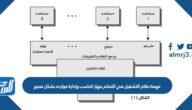 مهمة نظام التشغيل هي التحكم بجهاز الحاسب وإدارة موارده بشكل صحيح