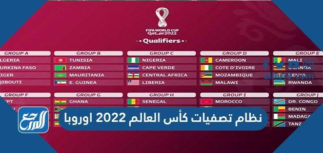 نظام تصفيات كأس العالم 2022 اوروبا