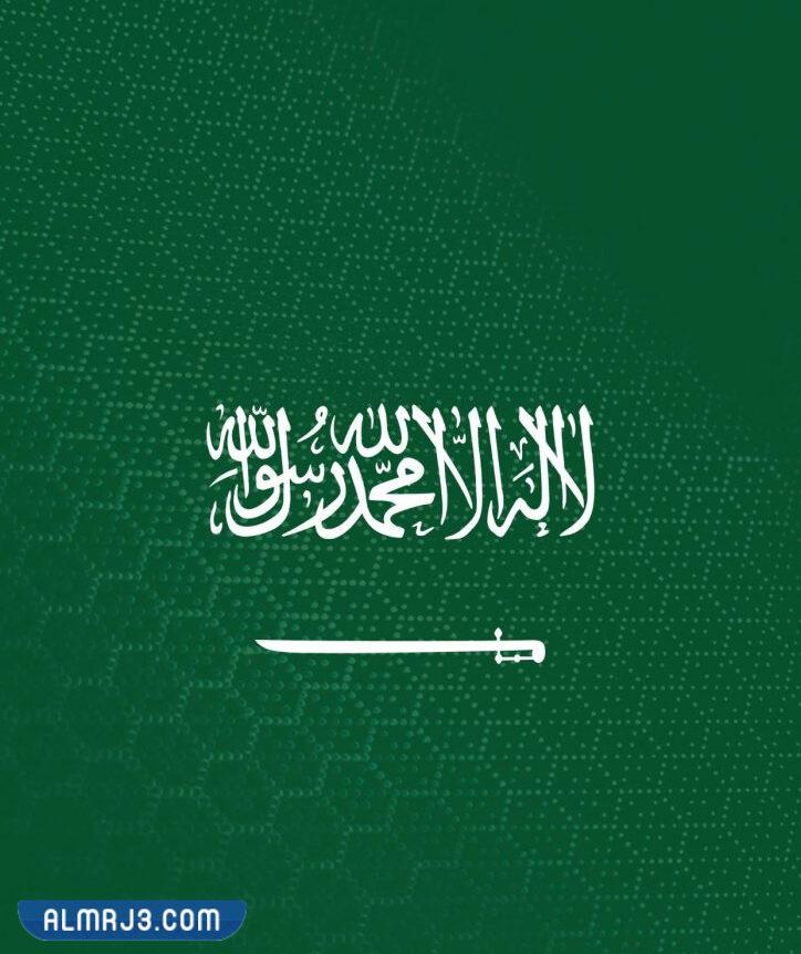 صورة علم المملكة العربية السعودية كبير