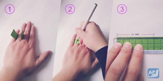 معرفة مقاس الخاتم باستخدام الخيط أو الورق