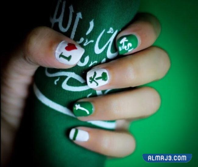أشكال مناكير لليوم الوطني السعودي 91
