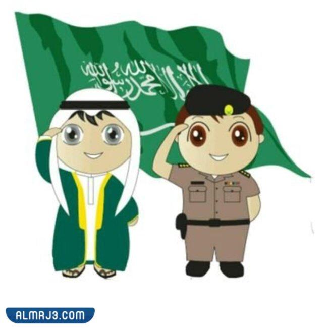 صور علم المملكة العربية السعودية للأطفال