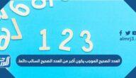 العدد الصحيح الموجب يكون أكبر من العدد الصحيح السالب دائما.